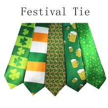 JEMYGINS New Design Printing Leaf Beer Festival Tie Arrow Type Holiday Tie Character Necktie(China)