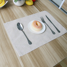 4 pieces/lot 2015 New Arrival Korean Fresh Floral Cotton Linen Placemats Good Quality Table Pad Good Heat Insulating Table Mat
