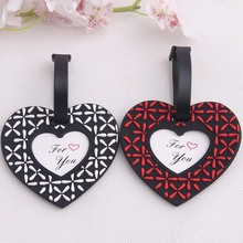 wedding favor gift and giveaways--Love heart shaped Luggage Tag novelty party favor souvenir 200pcs/lot(China)