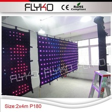 Free shipping p18 4x2m best price flexible indoor led video cloth,text, gif display
