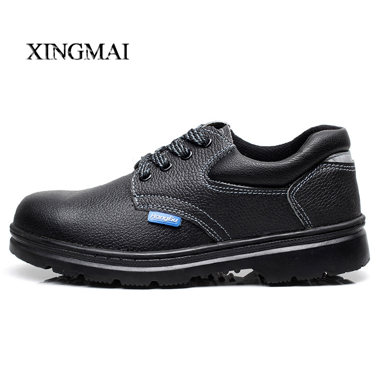 2016 Solid breathable anti-odor safety shoes women work shoes steel toe cap covering wear-resistant oil women boots<br><br>Aliexpress