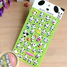 South Korea stickers Lovely panda wall stickers,3D Cartoon panda bubble sticker,For Kids Birthday Gift Toy DIY Decor sticker