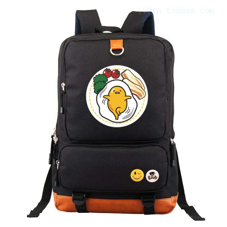 Anime gudetama Cosplay Anime backpack male and female students large capacity leisure backpack child birthday gift<br>