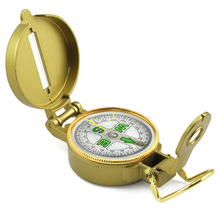 Wholesale 5* Metal Portable Multifunction   American Military Folding Lens Compass Gift