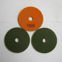 4 Inch/100mm 1500# Granite Standard Diamond Flexible Wet Polishing Pad Special for Granite 10 Pcs/lot Diamond Stone Tools(China)