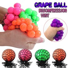 2017 Anti Stress Toy Anti Stress Ball for Fidget Toys Release Pleasure Multicolor Grape Ball Squeeze Ball Hand Wrist Exercise