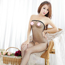 Women netting Sexy Lingerie Sexy Bodystockings transparent Open Crotch Teddies/Bodysuits Sex toys Wrap chest Whole body socks