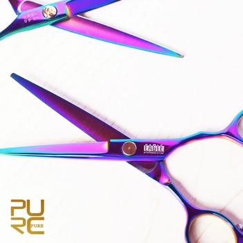 Púrpura titanium 6.0 pulgadas producto peluquería cizalla peluquería de alta calidad libre del envío venta caliente tijeras de pelo