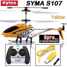 Original Syma S107 S107G 3CH Infrared RC Helicopter GYRO Yellow Red Blue RTF for Kids Children Funny Toy Birthday Gift(China)