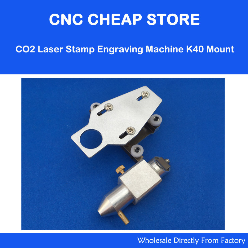 40W CO2 Laser Stamp Engraver K40 3020 3030 3040 3050 Part Head Mount 20 Mirror 18 Focus Lens 50.8mm with Air Nozzle<br>