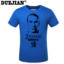 DUZJIAN World Cup Zinedine Yazid Zidane men's T-shirt man t shirt 2016 maillot de foot camisa masculina compression shirt(China)