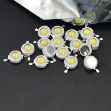 10pcs Real Full Watt CREE 1W High Power LED lamp Bulb Diodes SMD 110-120LM LEDs Chip For 3W - 18W Spot light Downlight(China)