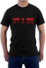 Design Short Sleeve Tee Shirt Oct 21 2015 - Countdown To October 21 2015 Day Future T Shirt Novelty Gift Idea O-Neck T Shirt