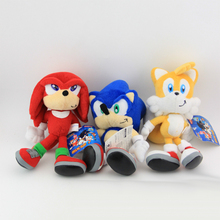1PCS Sonic The Hedgehog Plush Toys Blue/Red/Yellow Sonic Soft Stuffed Figure Dolls with Tag for Kids cute Gift(China)