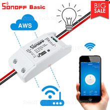 Itead Sonoff Smart Wifi Commutateur DIY Smart Switch Sans fil Domotica Wifi Interrupteur Smart Home Contrôleur Travail avec Alexa(China)