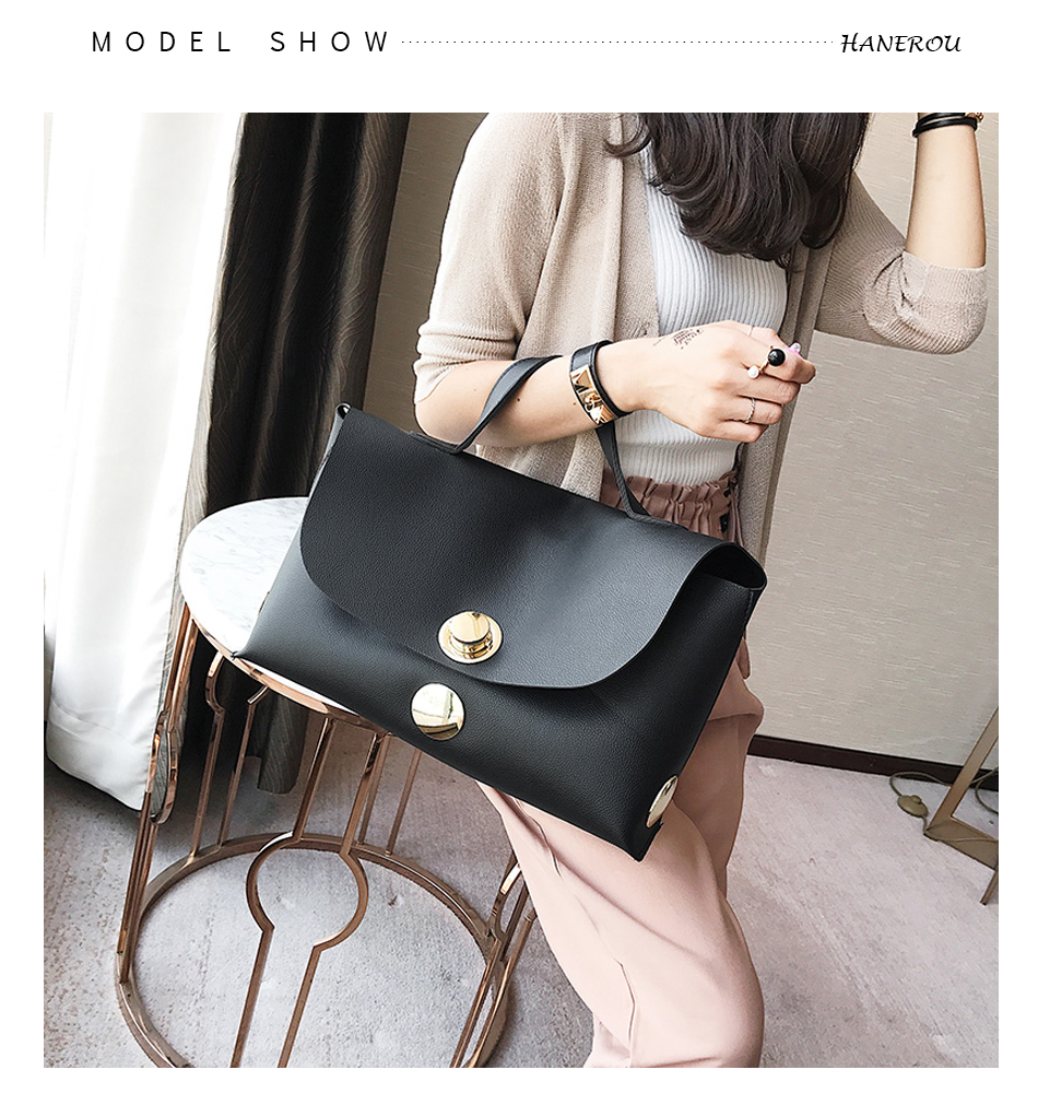 Fashion Luxury Lock Women Handbags High Quality Pu Leather Bags Handbags Women Famous Brands Big Capacity Ladies Hand Bags Sac 4