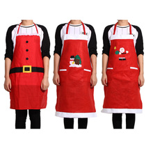New Year Christmas Decoration Snowman Santa Claus Apron Christmas Costume for Adult Home Kitchen Decor Accessories