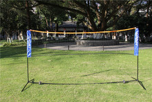 Popular And Hot Sale 3.1*1.5M Portable And Adjustable Badminton / Volleyball/ Tennis Net With Stand
