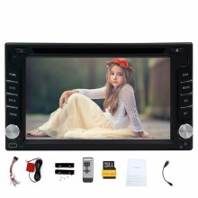 2 Din GPS Car DVD Player Navi Car Stereo Digital Touch Screen 6.2' Car Radio Audio Video Player Bluetooth FM AM RDS 8GB GPS Card