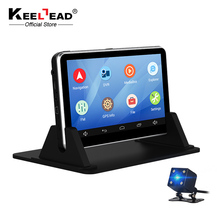 KEELEAD 7 inch car DVR Android GPS navigation Capacitive 512MB 16GB Bluetooth WIFI Russia Europe map Truck Vehicle Dash cam GPS