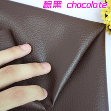 "Chocolate Big Lychee Pattern PU Synthetic Leather Faux Leather Fabric Upholstery Car Interior Sofa Cover  54"" Wide Per yard"