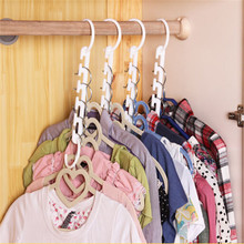 Free Shipping 1pcs 3D Space Saving Hanger Magic Clothes Hanger with Hook Closet Organizer Home Tool
