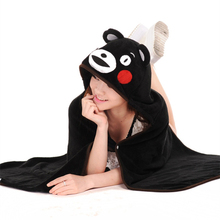 Lovely Cartoon Kumamon shawl Japanese Mascot Cute home Air conditioning blanket Kumamoto-ken Japan's most famous Bear GH187(China)