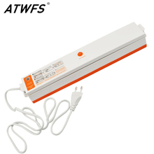 ATWFS Portable Food Vacuum Sealer Food Saver Vacuum Packer Container Film Packaging Heat Sealing Machine Including 15pcs Bags