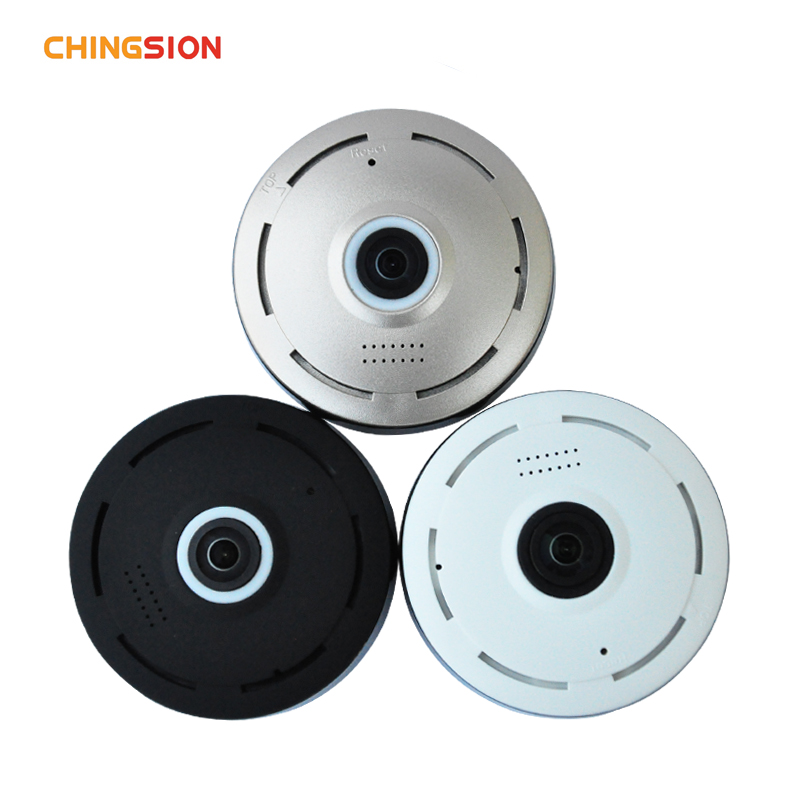 Chingsion 360 Degree smart panoramin webcam Mini wireless camera IP camera 960P wifi support P2P two way audio<br>