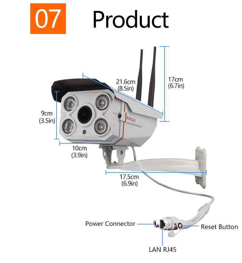 Outdoor Waterproof IP camera Zoom 10