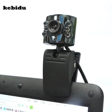 kebidu 30.0 Mega Pixel USB 2.0 Camera Webcam 6 Led Light Dimmer 30M HD Web cam With Mic Microphone for PC Computer Laptop