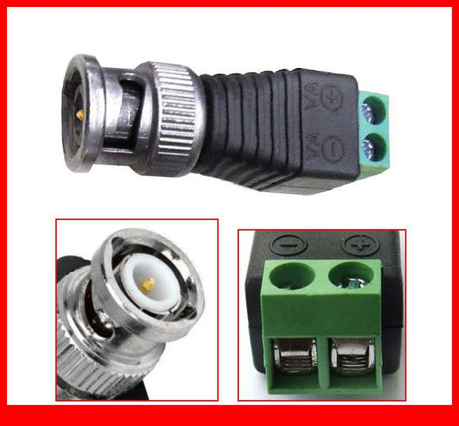 50PCS 2 pole BNC DC Male plug for Color monitor video CCTV Power plug Terminals<br><br>Aliexpress
