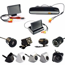 Viecar 4.3 Inch Auto Parking System HD Car Rearview Mirror Monitor  and 170 degrees Waterproof Car rear view camera