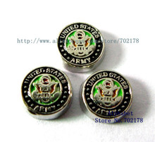 United States Army wholesales 10pcs floating locket charms FC273 fit living memory floating locket as Christmas gift