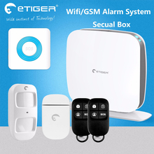 100 wireless zones 10 Euro countries languages gsm&wifi security alarm set etiger Secual box ESB-WS1A(China)