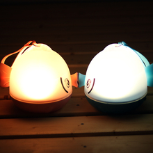 LumiParty Remote Control Led Light Twelve Constellations Projection Lamp 3D Kissing Gourami Night Light Blue Bottom White Light(China)