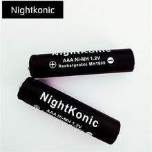 Nightkonic 12 PCS/LOT AAA battery 1.2V NI-MH Rechargeable Battery Black for Camera Flashlight Toy aaa battery rechargeable(China)