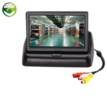 Folding 4.3 inch TFT Color LCD Screen Parking Sensor Video Monitor Car for TV Rearview Reverse Backup Camera
