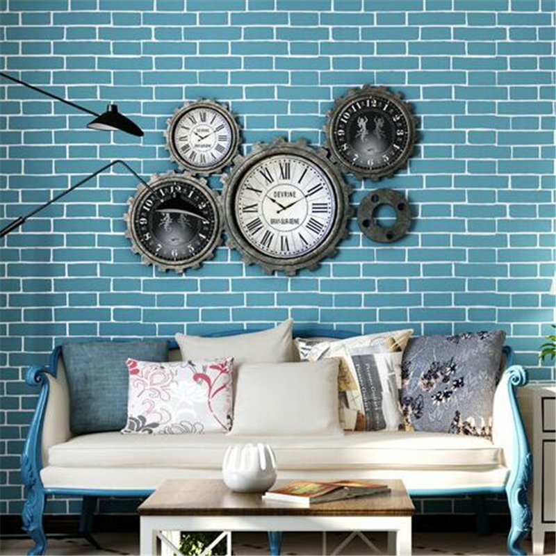 beibehang Vintage Embossed Flocking Brick Stone Pattern Wall paper for Living room Bedroom TV Dackground decor wallpaper Roll<br>