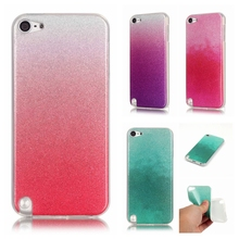 For Coque iPod Touch 6 Case Silicone Soft TPU Colorful Glitter Phone Case For iPod Touch 5 Case Bling Sfumature di Colore Cover