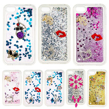 DEEVOLPO Bling Glitter Rhinestone Moving Quicksand Soft TPU Case for Apple iPhone 4 S 4G Coque Cover DP31(China)