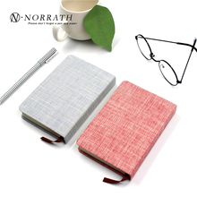 NORRATH A6 Kawaii Cute Stationery Small Fresh Linen Notebook Solid Color Cloth Memo Pad Office School Gift Supplies Notepad