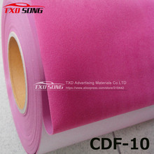High quality Pink heat transfer flocking PU VINYL FOR CUTTER PLOTTER with size 50X100CM