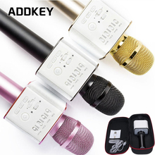 ADDKEY Q9 Magic Bluetooth Karaoke Microphone With Case High Quality Wireless Professional Speaker Handheld Microphone