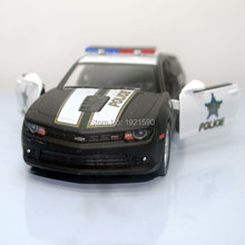 Brand New KT 1/38 Scale USA Chevrolet Camaro Police Edition Diecast Metal Pull Back Car Model Toy For Collection/Gift/Kids