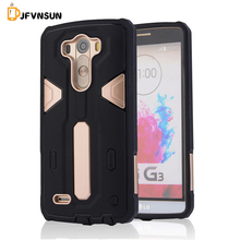 For LG G3 Case NEW Hybrid TPU+PC Hard Plastic Armor Case For LG G3 HOT Slim Dual Color Rubber Dustproof plug Phone Back Covers