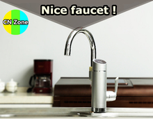 Free shipping instant hot water faucet tap electric fast heater tankless heating 3kw kitchen cold dual-use 2016 new arrival(China)