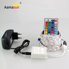 5M 5050 RGB LED Strip Light Non-Waterproof Flexible Led Lights DC12V 60Led/M rgb diode tape ruban Lamp kitchen curtain Lighting