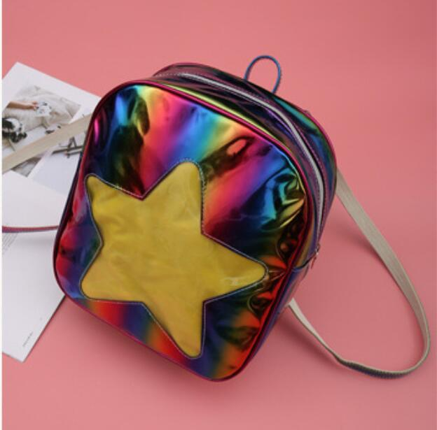 Luggage & Bags 2019 Women Hologram Laser Transparent Star Shape Kpop Ulzzang Harajuku Backpacks Lolita Ita Bag Schoolbag Itabag