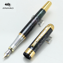 JINHAO 250 Luxury Black Wine with Golden Medium Nib Fountain Pen Stationery School&Office Writing Pen